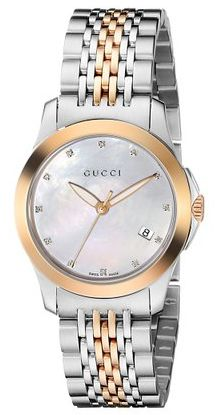 5de8e4dc417 Gucci G-Timeless   orologio donna   quadrante madreperla e diamanti ...